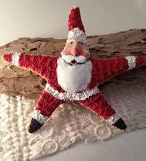 santa starfish handpainted tree topper decor tree