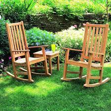 Chair In Garden Outdoor Wooden Rocking Chairs Design