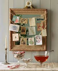 modern country style christmas card display ideas