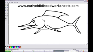 how to draw fish easy step by step for kindergarten kids youtube