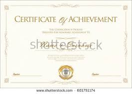 certificate achievement diploma template stock vector 601751174