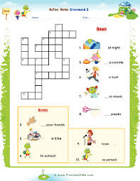 verbs puzzle for esl