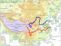 Yellow River China Map by Water In China Ilook China