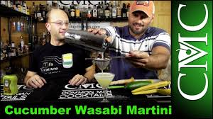 martini cucumber cucumber wasabi martini youtube