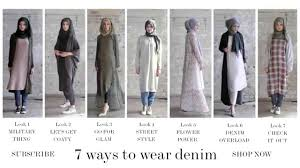 modest fashion style guide 7 ways to wear denim youtube