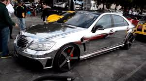 chrome benz chrome wrapped s 65 amg w221 by wald is an eye sore autoevolution
