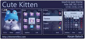 nokia 206 cute themes kitty themes themereflex