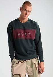 obey clothing obey clothing roebling crew sweatshirt forest zalando co uk