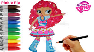 mini coloring book my little pony how to draw pinkie pie equestria girls mini