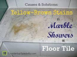 Carrara Marble Floor Tile Yellow Brown Stains In Marble Showers U0026 Floor Tile