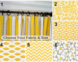 Yellow And Grey Window Curtains Yellow Curtains Yellow Grey Window Curtain Nautical
