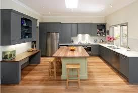 cuisine gris ardoise cuisine design cuisine gris ardoise mat bois blanc ilot central