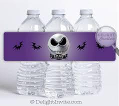 jack skellington nightmare before christmas water bottle labels