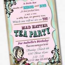 party invitations stylish mad hatter tea party invitations ideas