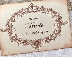 To My Bride Card To My Bride Card Bride Wedding Card To The One I Love Wife