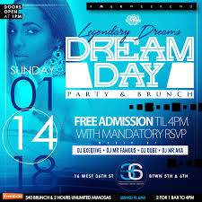 New York Ny Events U0026 Things To Do Eventbrite Dream Day Mlk Weekend Brunch And Day Party Tickets Multiple
