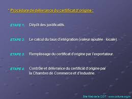 chambre de commerce certificat d origine chambre de commerce et d industrie de tunis ppt télécharger