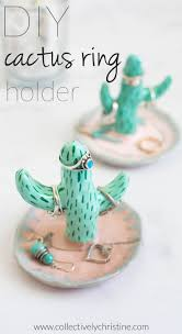 shabby chic cactus ring holder images Diy cactus ring holder cacti tutorials and ring jpg
