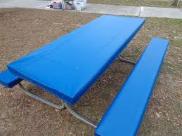 picnic table cover set table gloves royal blue fitted table cover set