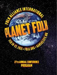folk alliance international 2015 conference program book by folk