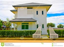 thai modern style house from front royalty free stock photos