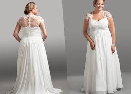 empire waist plus size wedding dress plus size chiffon wedding dresses pluslook eu collection