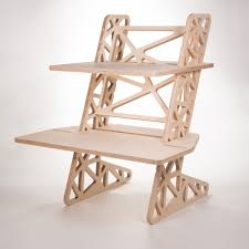 Adjustable Height Standing Desk by Adjustable Height Standing Desk Cnc Cut And Milled From 18mm Birch