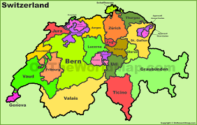 Political Maps Switzerland Political Map