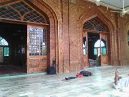 file wooden work in jamia mosque swat in swat city jpg