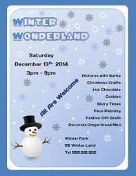 free downloadable winter wonderland flyer template flyertutor