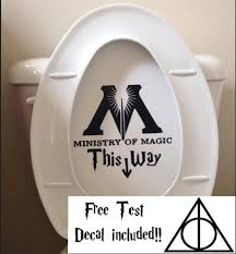 harry potter bathroom accessories ministry of magic bathroom toilet decal sticker funny harry