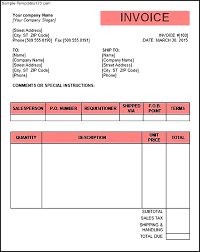 tax invoice template word doc invoice example