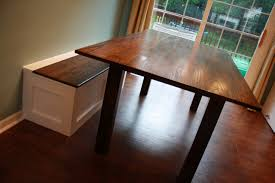 breakfast table with storage jack s arts crafts table and built in storage bench the wood