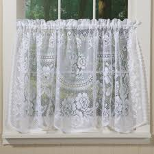 beautiful country style curtains in rosy lace country style