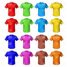 colored men u0027s t shirt templates royalty free vector clip art image