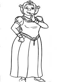 a beautiful ogre princess fiona in shrek movie coloring pages
