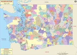 seattle map by county washington zip code map washington postal code