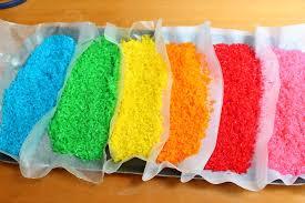 como arroz de colores artividades