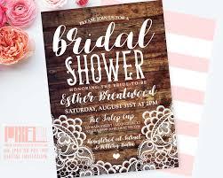 vintage lace bridal shower invitation shabby chic invite rustic
