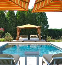 gazebo canopy pool eclectic with cabana chaise longue chaise