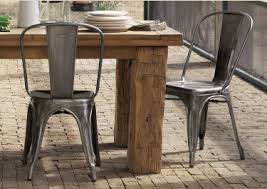 Rustic Industrial Dining Chairs Smith Industrial Metal Dining Chair In Chairs Remodel 4