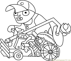 catapult baseball zombie coloring page free plants vs zombies