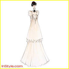 swan s wedding dress fashion designers sketch swan s wedding dress photo 264881