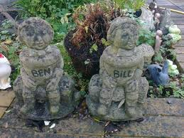 bill and ben concrete garden figures in bournemouth