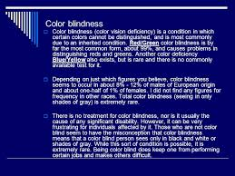 What Causes Red Green Color Blindness A1 The Eye And Sight Ppt Online Download