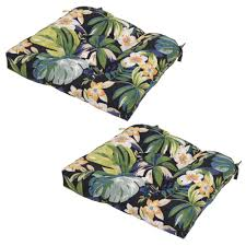 Plantation Patterns Seat Cushions by Caprice Tropical Outdoor Seat Cushion 2 Pack 7200 02229000 The