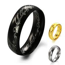 the one ring wedding band lord of the rings the one ring lotr titanium steel fashion men s