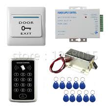magnetic lock kit for cabinets diy 125khz rfid black controller access control kit for 1 door