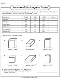 volume worksheets volume of a solid