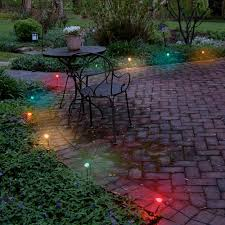 lumabase multicolor electric pathway lights string set of   with lumabase multicolor electric pathway lights string set of  from homedepotcom